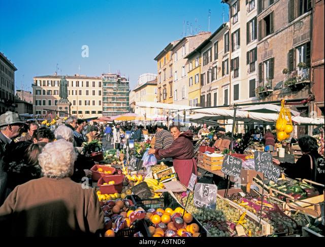 Rome Campo dei Fiori market - Stock Image