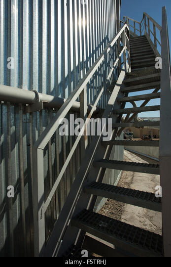 Water Tank Stairs : Storage tank spiral staircase stock photos