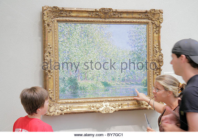 Philadelphia Pennsylvania Philadelphia Museum of Art institution exhibition European collection artwork Bend in - Stock Image