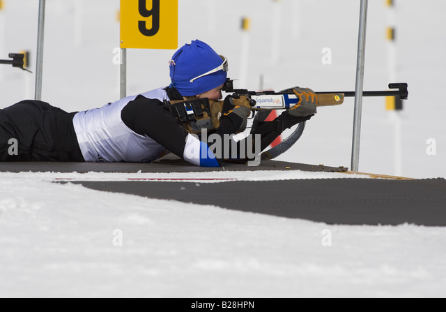 Bi Athletes British Columbia Canada - Stock Image