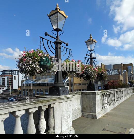 Kingston Bridge, Thames, Horsefair, London,England, UK, KT1 - Stock Image