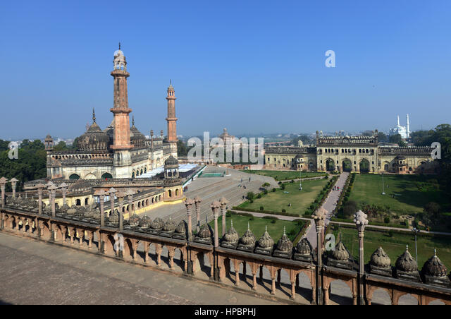 The Asfi mosque inside the Bara Imambara complex in Lucknow, Uttar Pradesh. - Stock Image