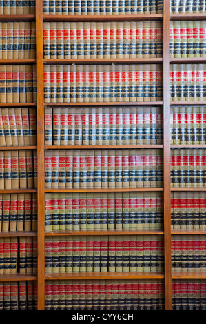 Law Library USA Legal books - Stock Image