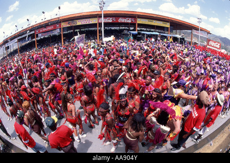 Caribbean Trinidad Carnival parade - Stock Image