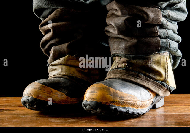 Firefighter boots - Stock Image