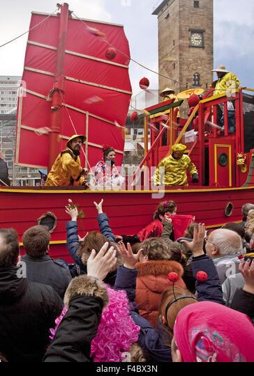 Carnival parade, Hagen, Germany - Stock Image