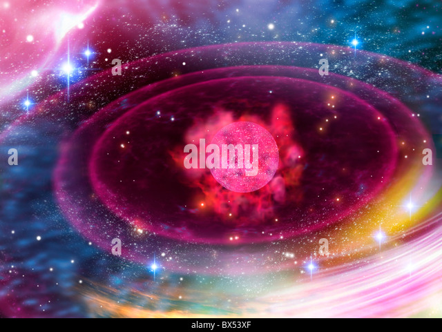 Planetary formation, conceptual artwork - Stock Image