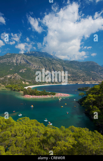 Oeluedeniz near Fethiye, Turkish Aegean Coast, Turkey - Stock Image