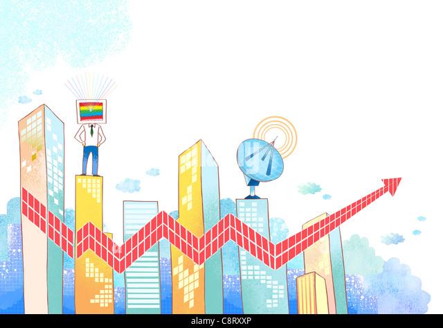 Concept of growth and progress - Stock-Bilder