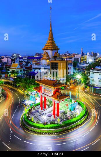 BANGKOK, THAILAND. January 17, 2016. Gateway Arch (Odeon Circle), China town. - Stock Image