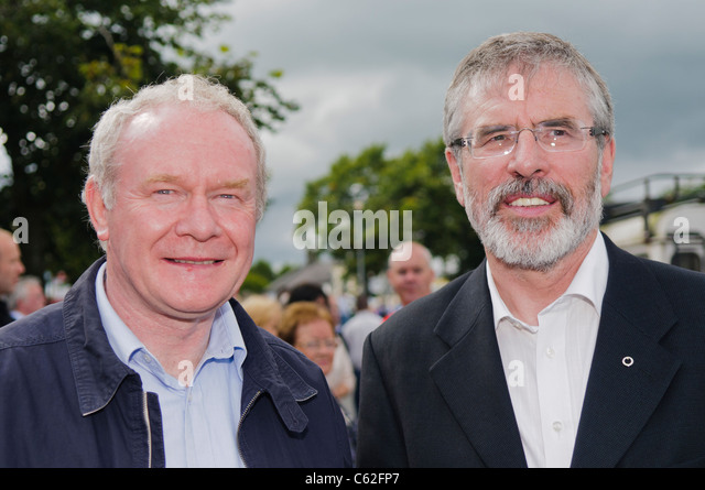 Martin McGuinness and Gerry Adams - Stock Image