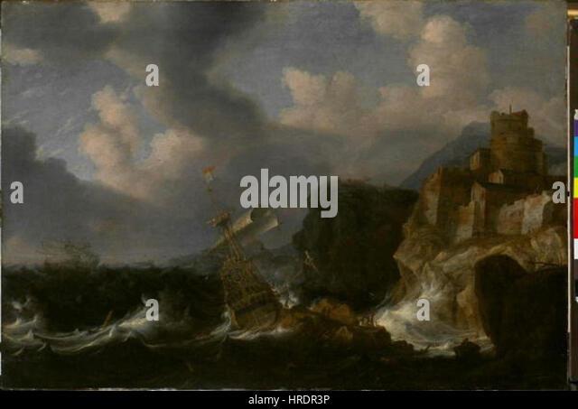 Aert Anthonisz 1580-1620 - Rozbourene more - Stock Image