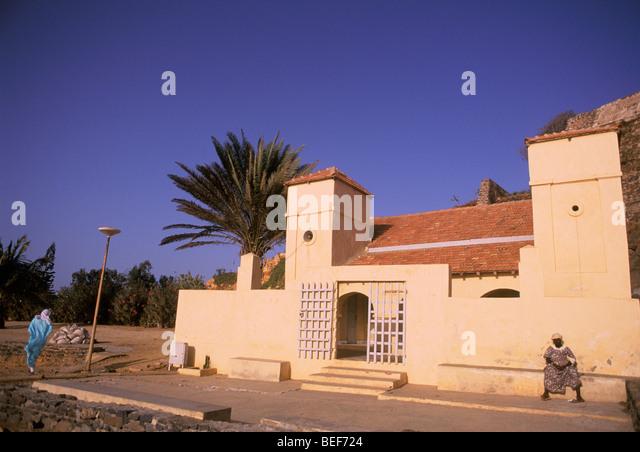 Mosque entrance Island of Goree, former slave holding island off the coast of Senegal near Dakar West Africa - Stock Image