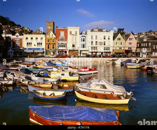 GB - DEVON: The Inner Harbour at Dartmouth - Stock-Bilder