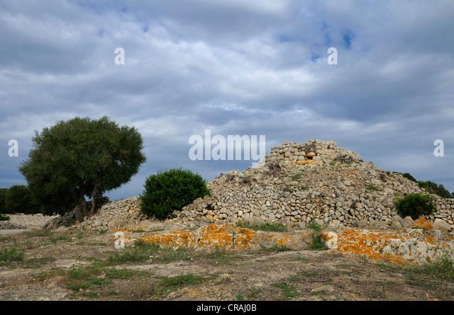 Talaiot, prehistoric site of Torralba d'en Salort, Menorca, Balearic Islands, Spain, Europe - Stock Image