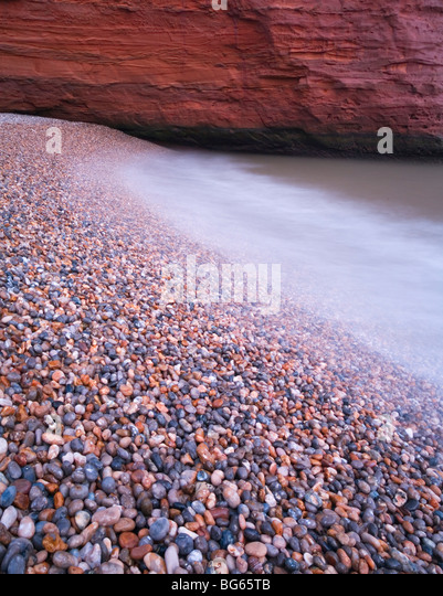 Pebble Beach Detail, Ladram Bay. Jurassic Coast World Heritage Site. Devon. England. UK. - Stock-Bilder