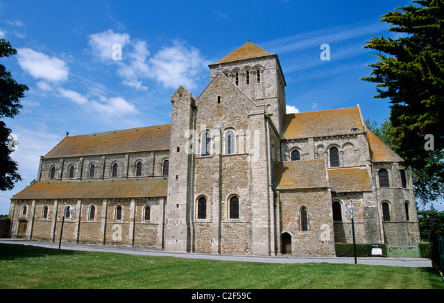 Lessay abbey normandy france