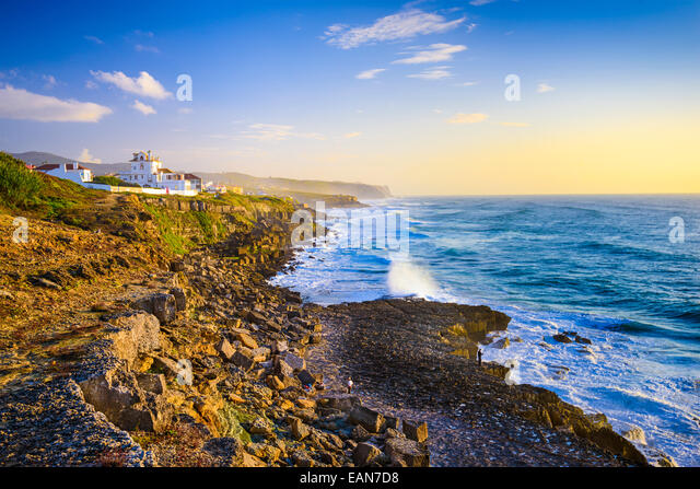 Sintra, Portugal coastline on the Atlantic Ocean. - Stock Image