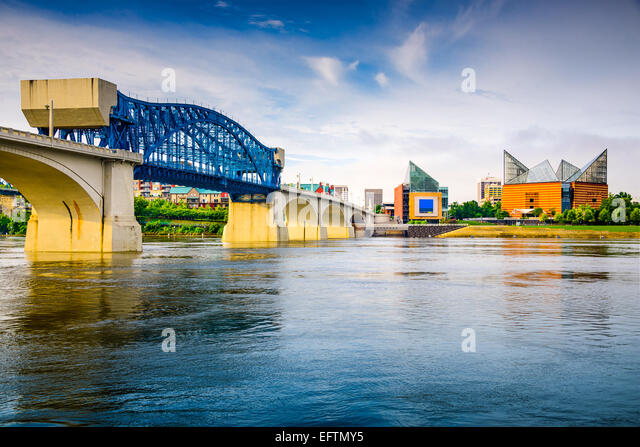 Chattanooga, Tennessee, USA downtown city skyline. - Stock-Bilder