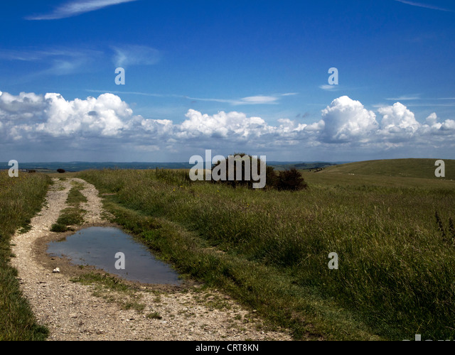 South Downs National Park near Brighton, Sussex - Stock Image
