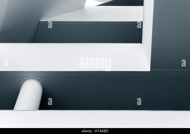 Abstract lines and shapes of modern architecture interior - Stock Image