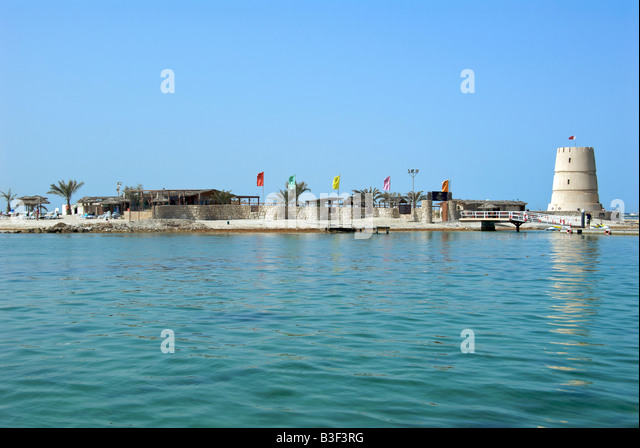Restaurant and resort Dar Island Bahrain - Stock Image