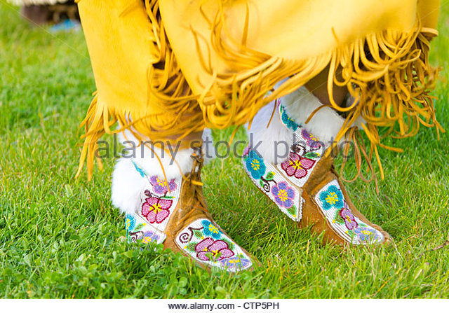 Beaded Moccasins Stock Photos Beaded Moccasins Stock Images Alamy