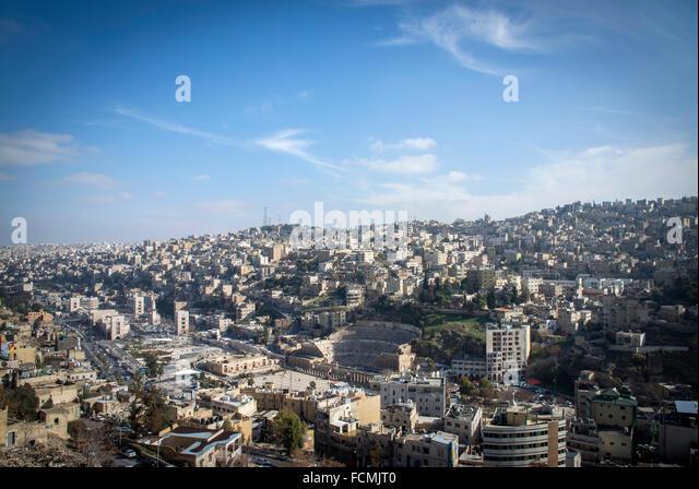 The Capital city of Jordan, Amman. - Stock Image