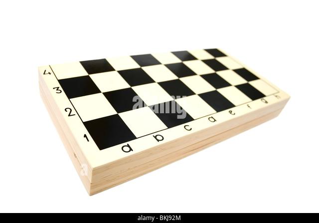 Closed chess box on white backgrounds - Stock-Bilder