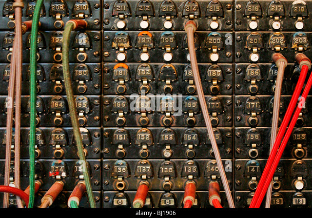 Old Telephone Switchboard - Stock-Bilder