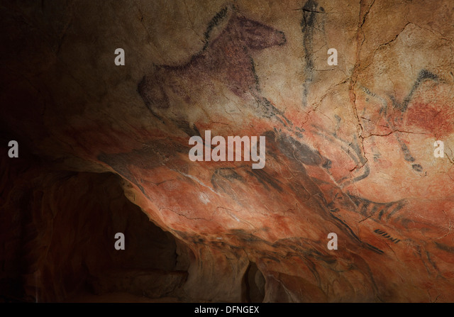 Horse And Cave Painting Stock Photos & Horse And Cave Painting Stock Imag...