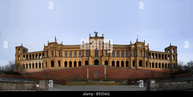 Parliament of Bavaria Maximilianeum Munich Germany - Stock Image