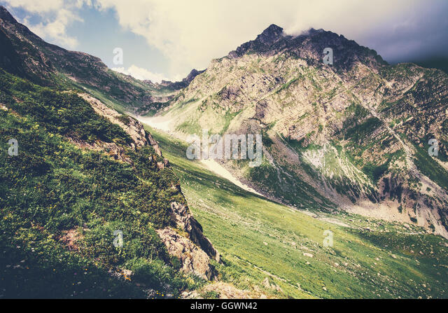 Rocky Mountains Landscape Summer Travel scenic view - Stock Image