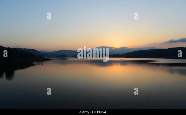 The beautiful Umiam lake near Shillong in Meghalaya. - Stock Image
