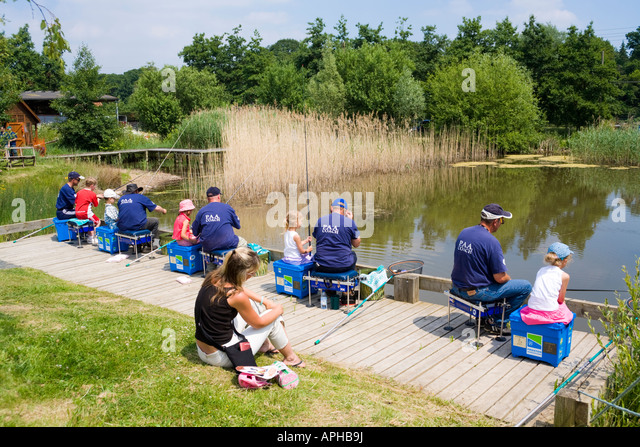 PAA coaches giving angling instruction to children at the Three Counties Show, Malvern, Worcestershire - Stock Image