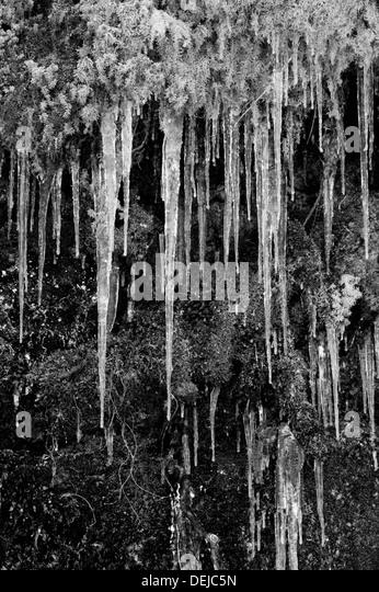 Icicles taken in Morzine France - Stock-Bilder