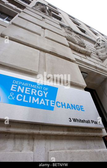 Department of Energy & Climate Change. Whitehall. London. Britain. UK - Stock Image