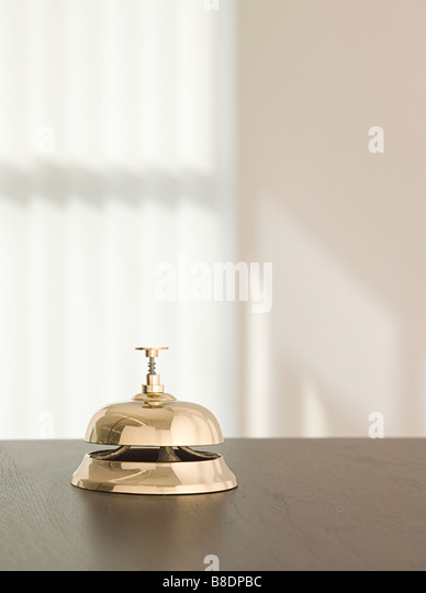 Service bell in a hotel - Stock Image