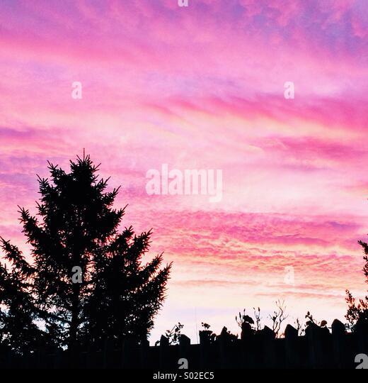 Beautiful morning sunrise - Stock Image