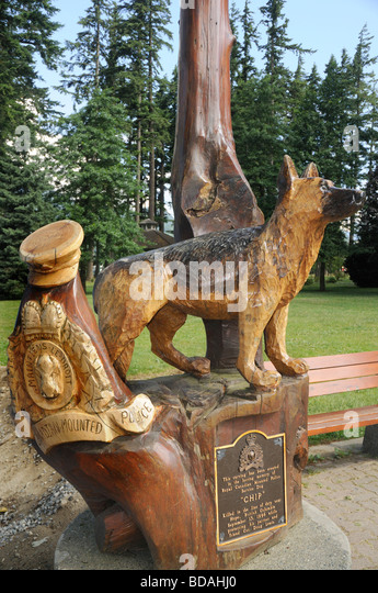 Bc chainsaw wood carving stock photos