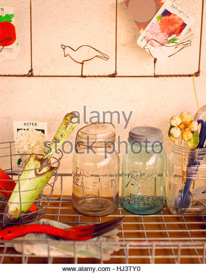 Vintage Styled Potting Table - Stock Image