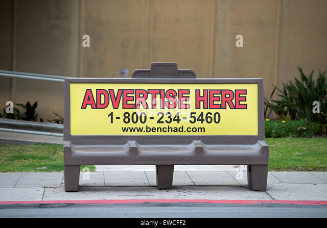 Bench Advertising Bus Stop Ad Stock Photos Bus Stop Ad Stock Images Alamy