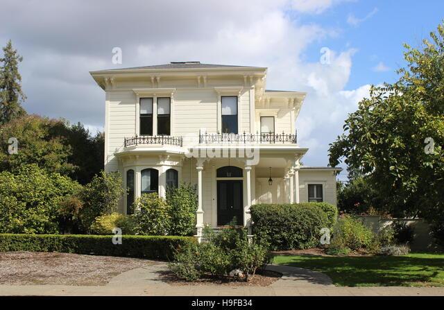 Shadow of a Doubt House, Italianate, Santa Rosa, California - Stock Image