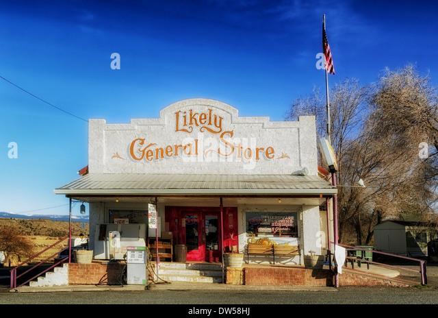 general store california nostalgic old-fashioned - Stock Image