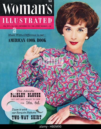 Front cover of Woman's Illustrated magazine for 27th September 1958 - Stock Image