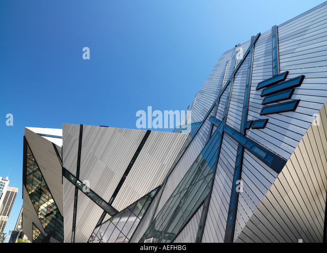 Canada Ontario Toronto The Royal Ontario Museum ROM The Michael Lee Chin Crystal design by architect Daniel Libeskind - Stock-Bilder