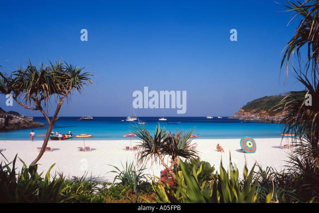Thailand Ko Raya Yai beach - Stock Image