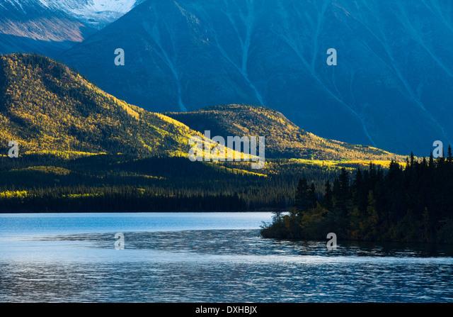 Tushti Lake & Young Peak, British Columbia, Canada - Stock Image