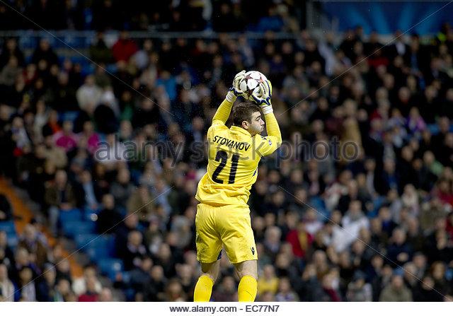 SPAIN, Madrid: Ludogorets´s goalkeeper player Vladislav Stoyanov during the Champions League 2014/15 match - Stock Image