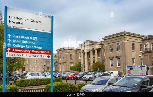 Cheltenham General Hospital, Cheltenham, UK - Stock Image